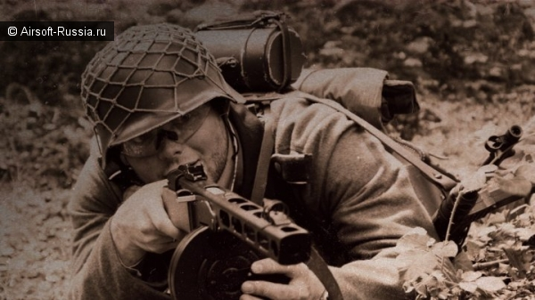 немецкий солдат с ППШ, страйкбол, Ppsh-41,