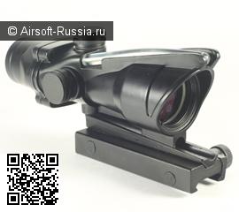 Оптический ACOG RCO с рабочей трубкой и подсветкой прицельной сетки