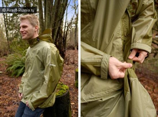 Легким движением руки куртка превращается...