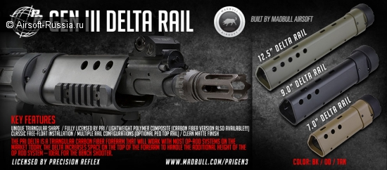 MadBull: цевье PRI GIII Delta Rail