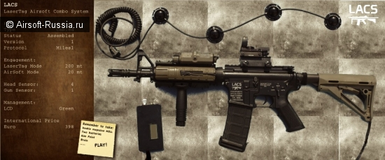 LaserTag AirSoft Combo System (LACS)