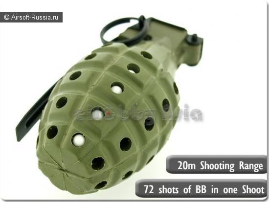 Многоразовая граната Snicker 360° Gas MKII Grenade