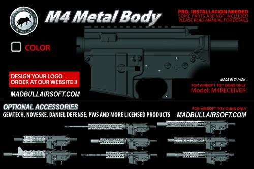 металлическая ствольная коробка (ресивер) M4 от MadBul