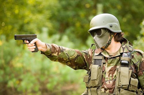 Страйкбол, Реплика американского шлема PASGT, Glock 17