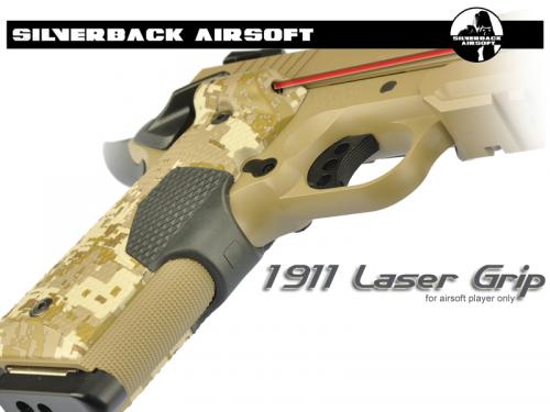 накладки на пистолетную рукоять с ЛЦУ от Silver Airsoft для пистолета для страйкбола Colt 1911