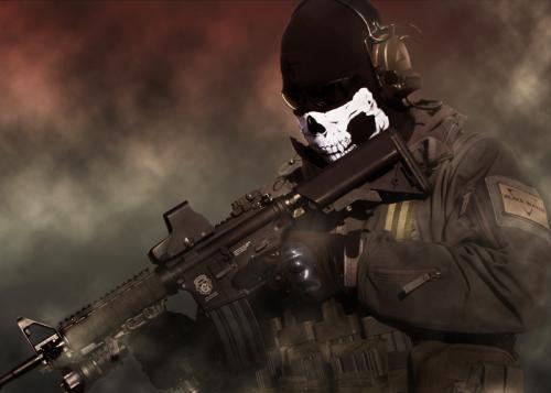 "балаклава с черепом \""маска бойца спецподразделения США\"" Modern Warfare 2"