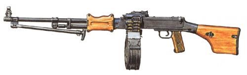 пулемет РПД рисунок общий вид