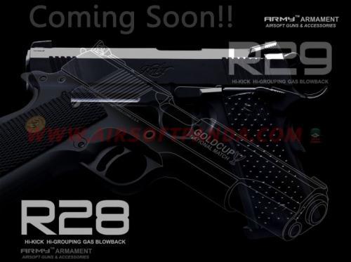 страйкбольные пистолеты GBB Army Armament R29 и R8 1911