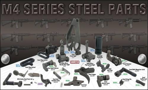 стальные детали страйкбольных винтовок серии М4 от ARES