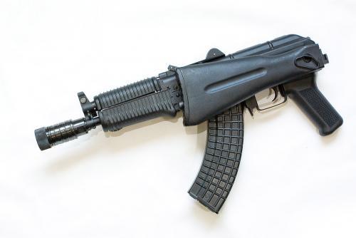 Эйрсофт AEG DIBOYS, Kalash SLR-106 (Rk-12) Общий вид со сложенным прикладом прикладом