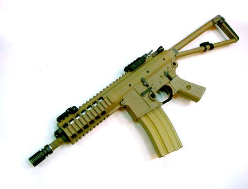 WE KAC PDW GBB песочного цвета страйкбольное оружие