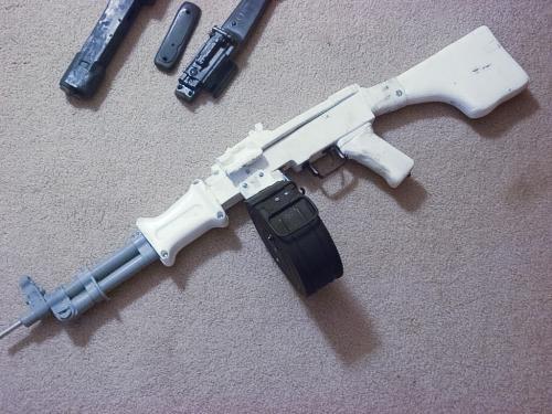 эйрсофт пулемет РПД от HSC Airsoft в работе