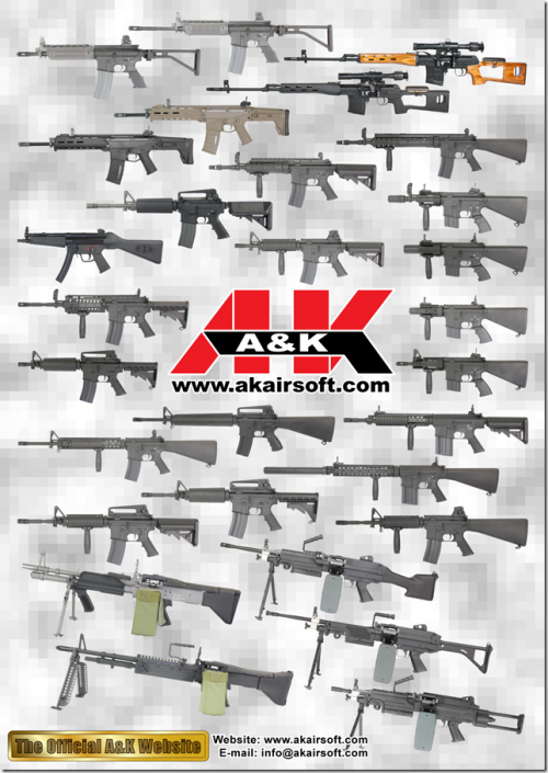 A&K производитель страйкбольного оружия китай
