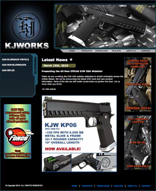сайт производителя страйкбольного оружия KJW Usa