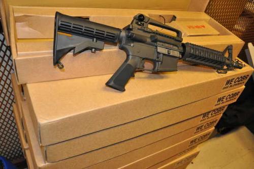 страйкбольное оружие, airsoft WE-Tech M4 CQB-R GBB, фото ATF
